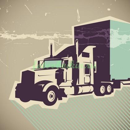 Фотообои Русунок грузовик