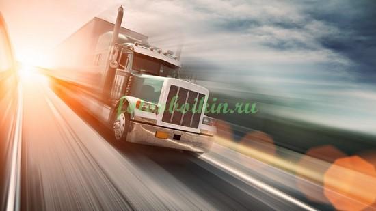 Фотообои Быстрый грузовик