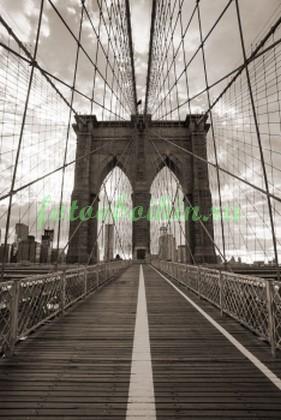 Фотообои Бруклинский черно белый мост
