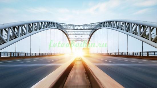Фотообои Движение на мосту