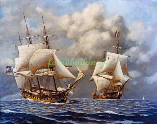 Фотообои Корабли в море