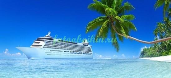 Фотообои Круизный лайнер около пляжа
