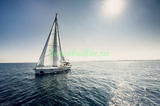Фотообои Белая яхта