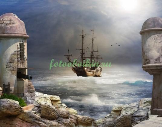 Фотообои Крепость у моря