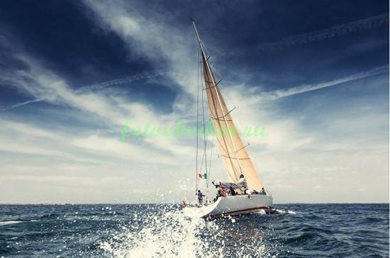 Фотообои Яхта в плавании