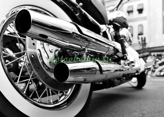 Фотообои Глушитель мотоцикла
