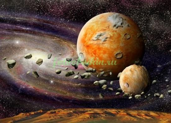Фотообои Планеты и астрероиды