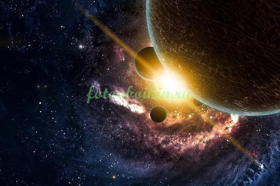 Фотообои Солнце за планетой