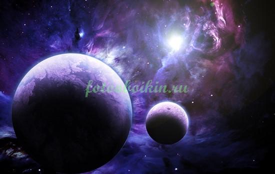 Фотообои Две планеты