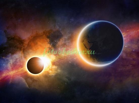 Фотообои Земля и Венера