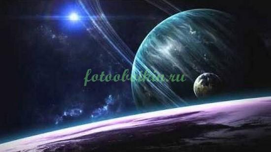 Фотообои Космический пейзаж