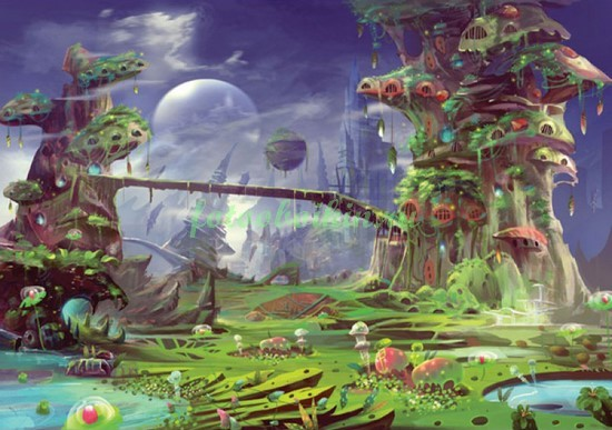 Фотообои Сказочная планета