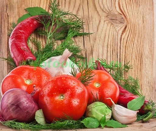 Фотообои Овощи натюрморт