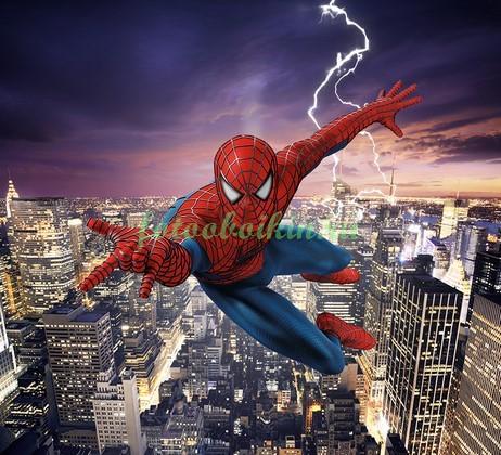 Фотообои Человек паук над Нью-Йорком