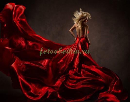 Фотообои Девушка в красном платье