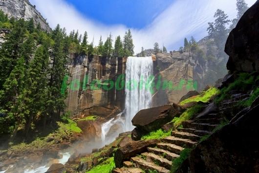 Фотообои Водопад в горах