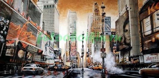 Фотообои Нью-Йорк под дождем