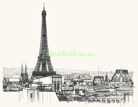 Фотообои Высокая Эйфелева башня