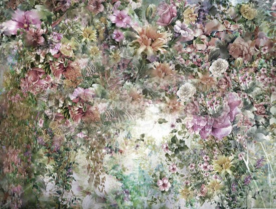 Фотообои Панно Летние цветы 23