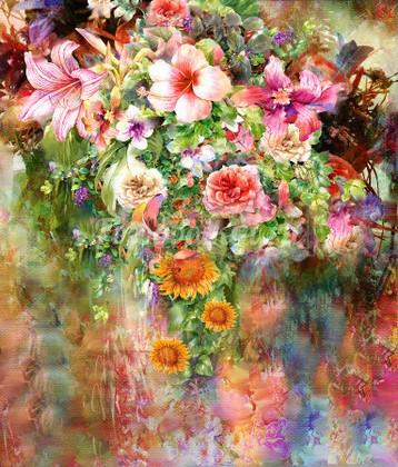 Фотообои Панно Летние цветы 29