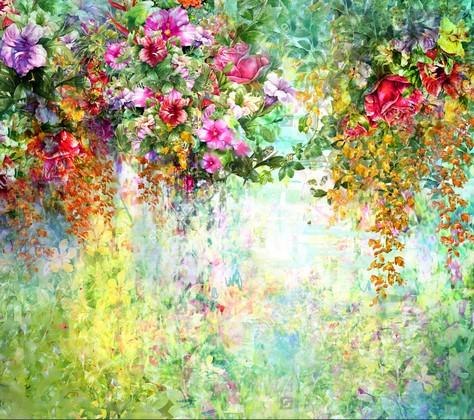 Фотообои Панно Летние цветы 39
