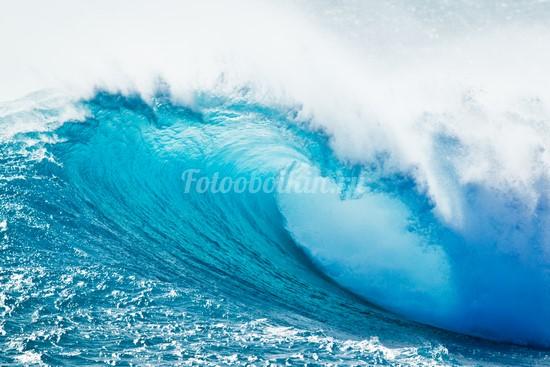 Фотообои Голубая волна в море