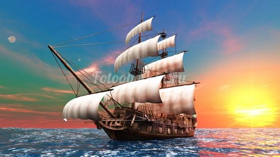 Фотообои Старинный фрегат