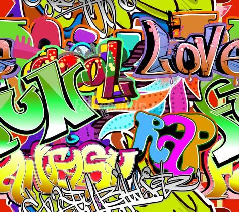 Фотообои Яркие буквы