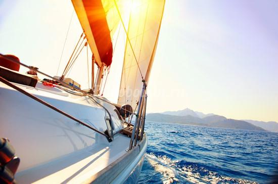 Фотообои Яхта в средиземном море