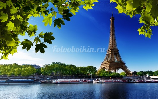 Париж Эйфелева башня летом