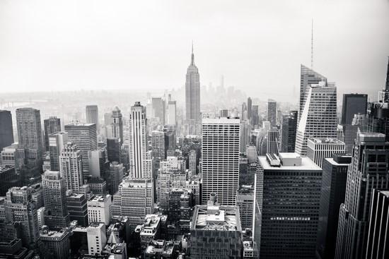 Черно белое фото Нью-Йорка