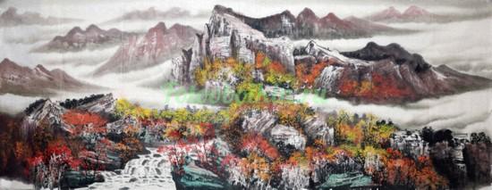 Японский горный пейзаж