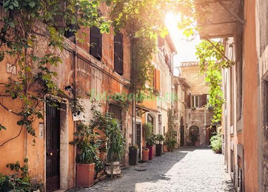 Фотообои Солнечная улочка в Неаполе
