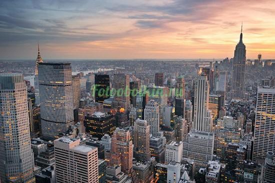 Фотообои Поздний вечер в Нью-Йорке