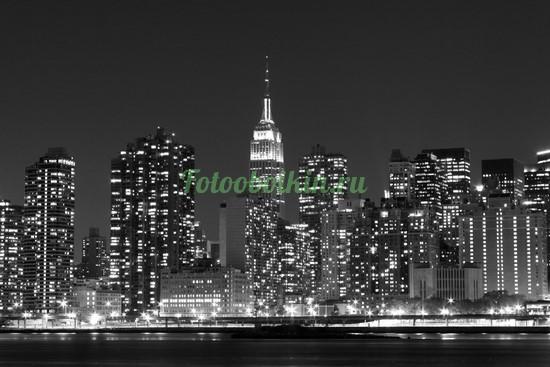 Фотообои Черная ночь в городе