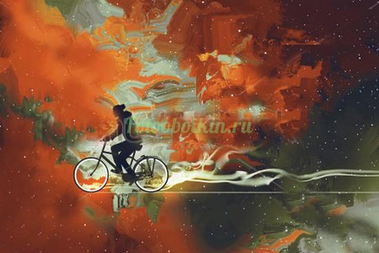 Фотообои Велосипедист