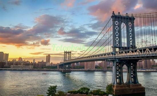 Фотообои Мост в летний вечер