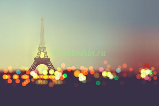 Фотообои Эйфелева башня абстракция