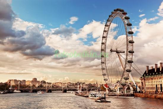 Фотообои Колесо обозрения Лондон ай