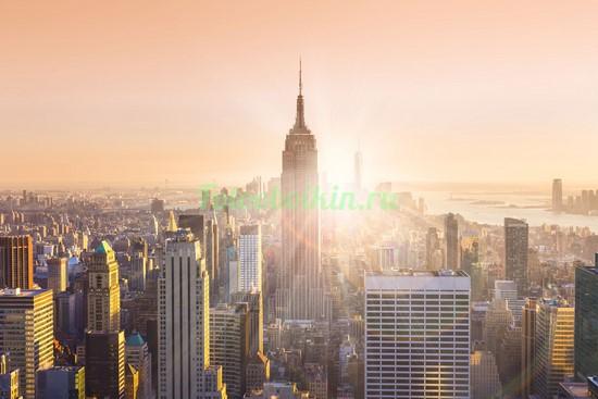 Фотообои Солнце за Эмпаер Билдинг
