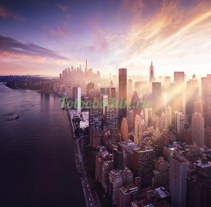 Фотообои Рассвет в городе