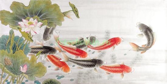 Фотообои Рыбки в пруду