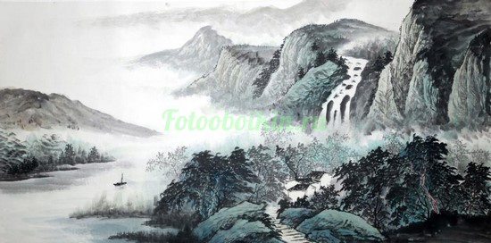Фотообои Лодочка в реке