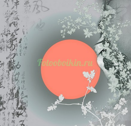 Фотообои Красное солнце на закате
