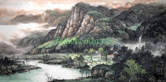 Фотообои Горы и зеленые луга