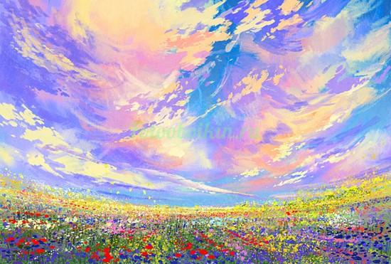 Фотообои Цветущая поляна