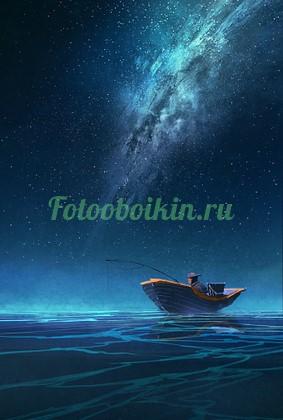 Фотообои Рыбак на лодке