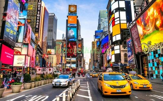 Фотообои Яркие машины такси