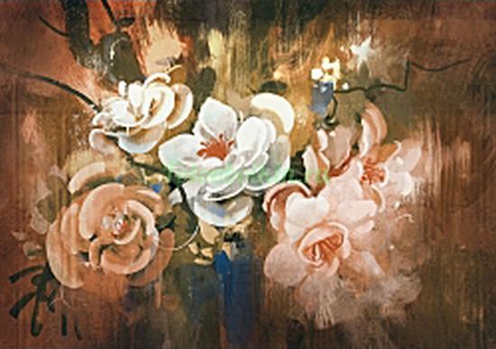 Фотообои Букет красивых цветов в вазе