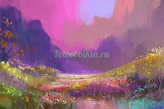 Фотообои Сиреневая полянка